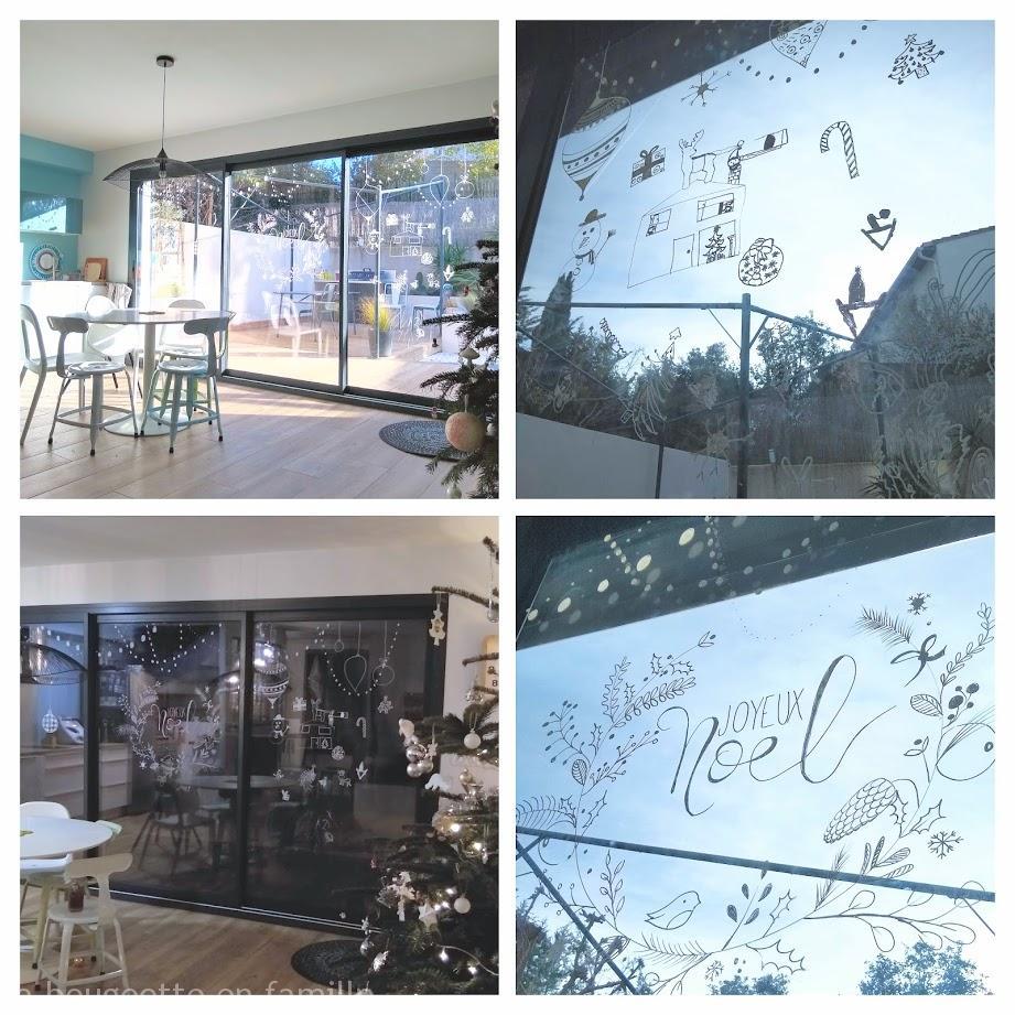 decoration-vitre-posca-noel