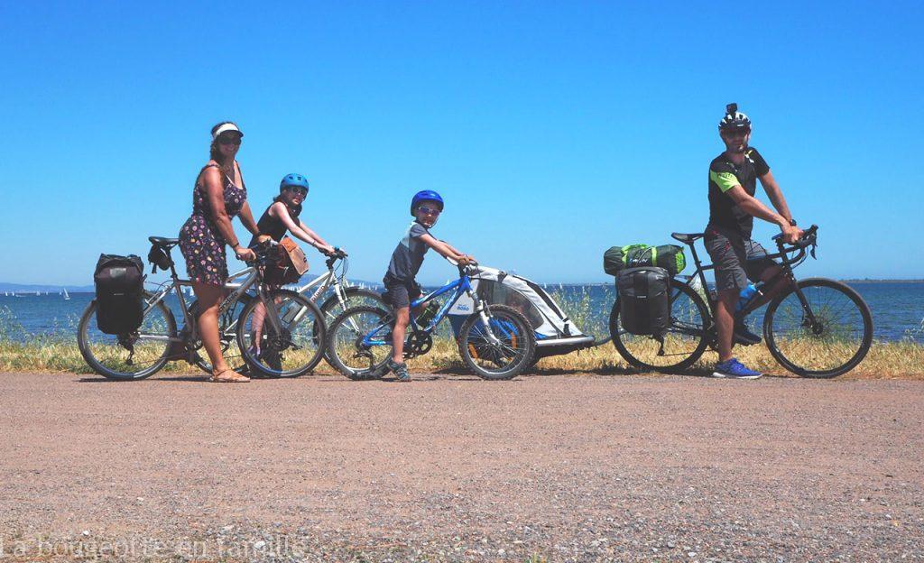Le tour de l'étang de Thau à vélo en famille