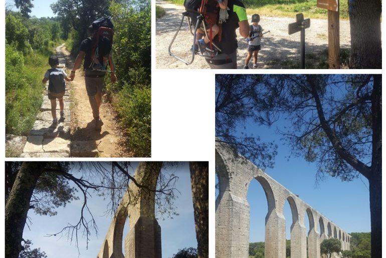 balade nature famille aqueduc castries montpellier pinède pique nique