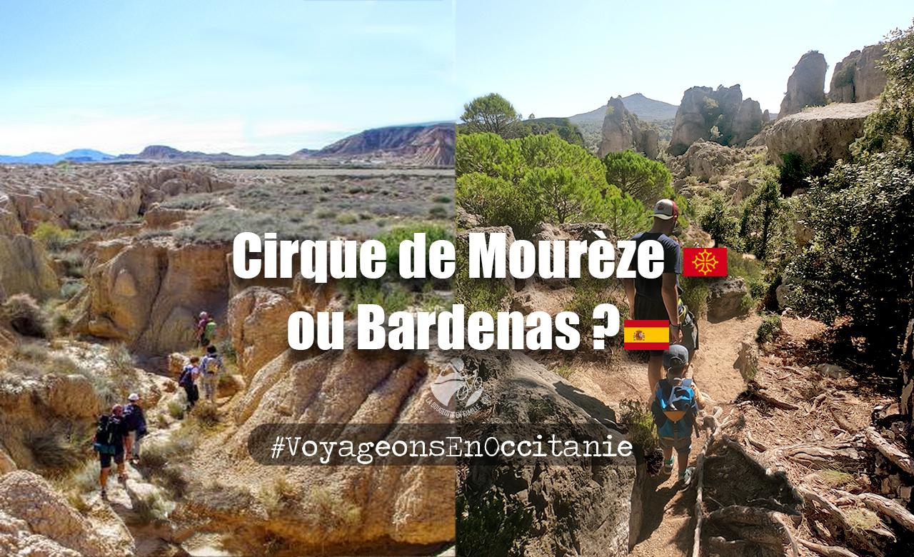 randonnée, paysage, désert, hérault, cirque mourèze, bardenas