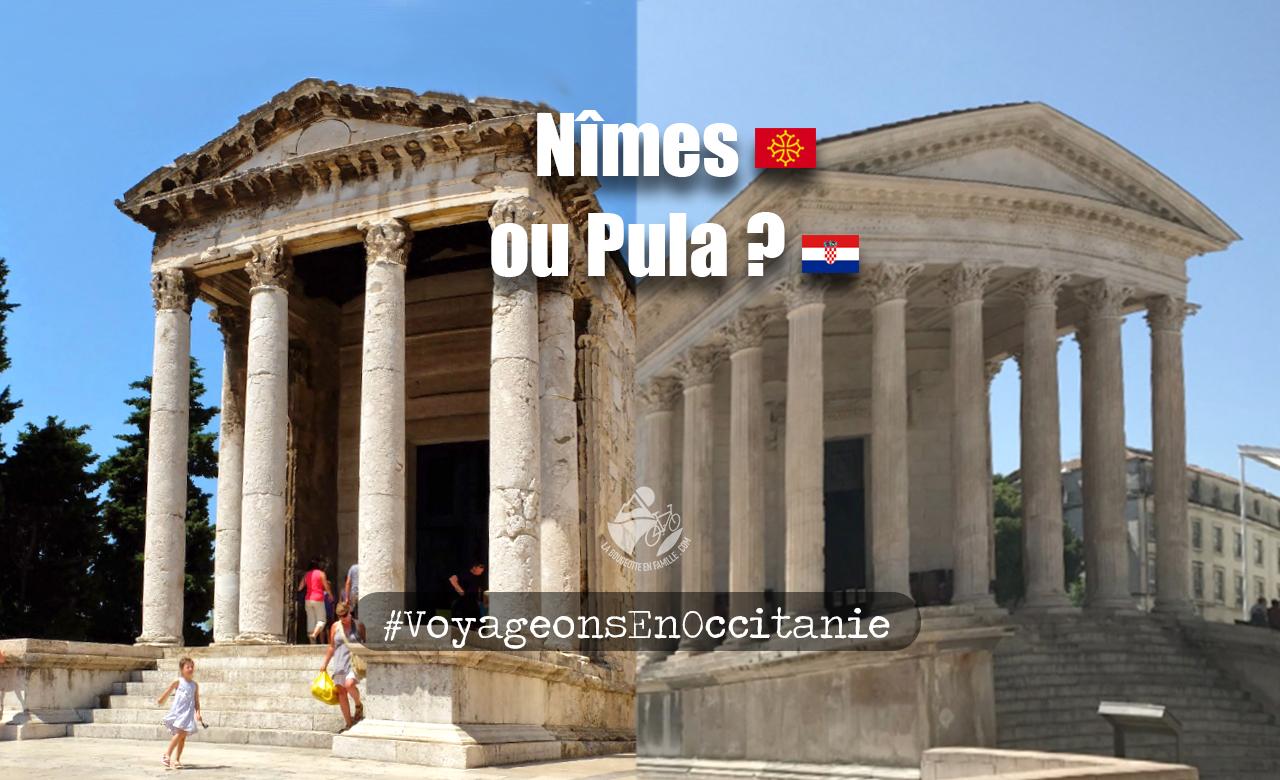 maison carrée, vestiges romains, nimes, pula