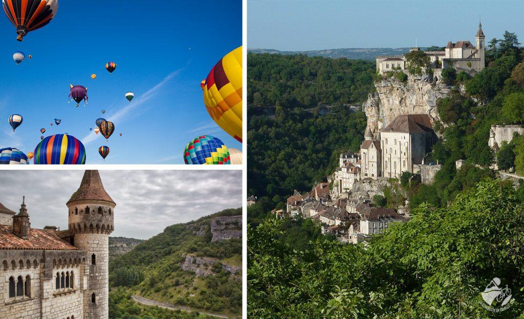 rocamadour, église, chateau, montgolfières, montgolfiade