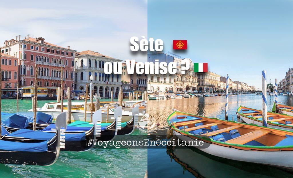 voyage, occitanie, port, sete, venise, gondole, barque