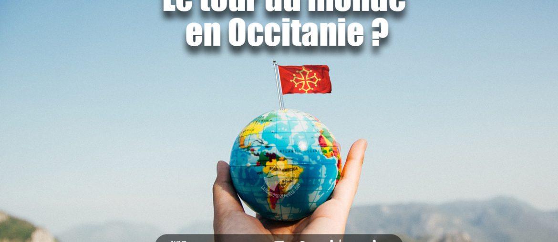 globe, tour du monde, drapeau occitanie