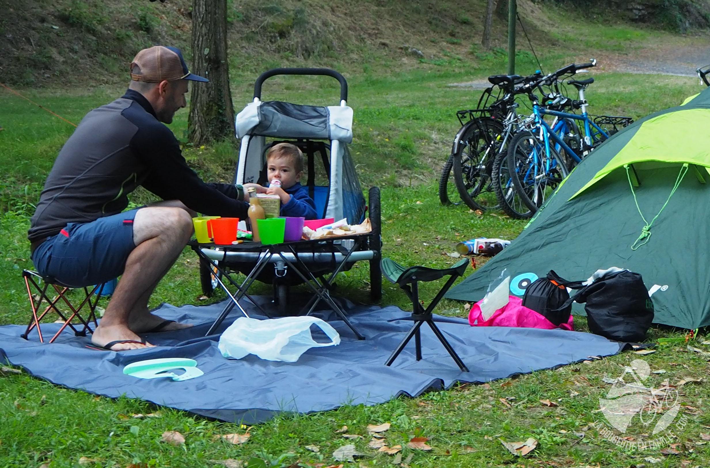 remorque velo bébé camping