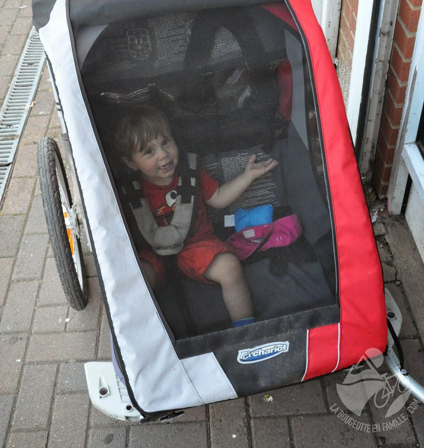 remorque vélo enfant 2 places chariot
