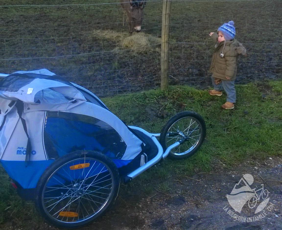 poussette remorque vélo bébé